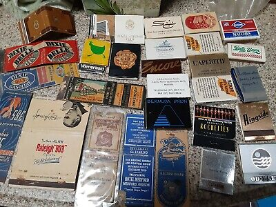 Lot of 29 Vintage Match Books Hotel Motel Advertising Colorful Vintage Graphics
