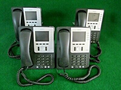 Lot Of 4x Snom 821 Sip Voip 12 Line Color Display Gigabit Phone And Handset Only