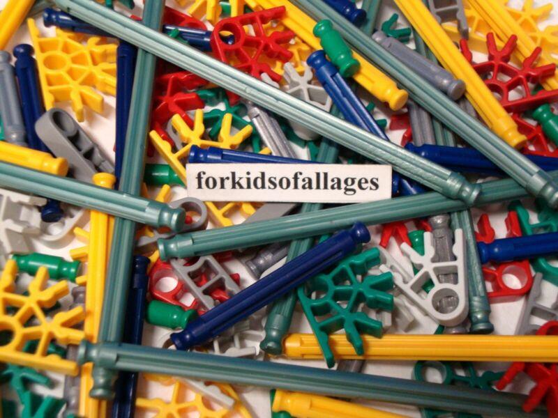 Pieces Lot 500 GREEN CONNECTORS Bulk Standard KNEX Replacement Parts