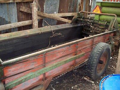 Manure Spreader New Idea No.19 Number 19 Used Manure Spreader
