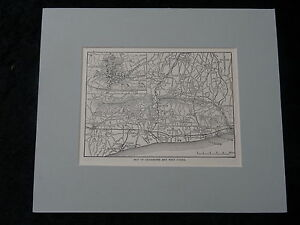 C1895 Mounted Street Map of West Sussex & Chichester.