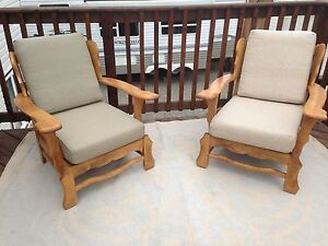 Vintage matching arm chairs