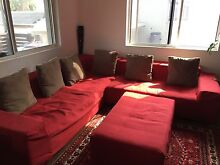 7 seater swede leather lounge with 6 cushions North Strathfield Canada Bay Area Preview