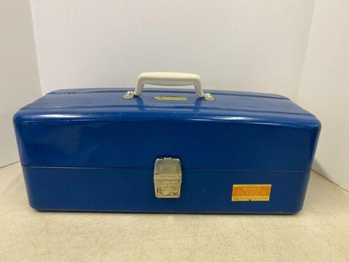 Vintage Union Steel Made USA Tackle Box Fishing Box Model 8619 NOS