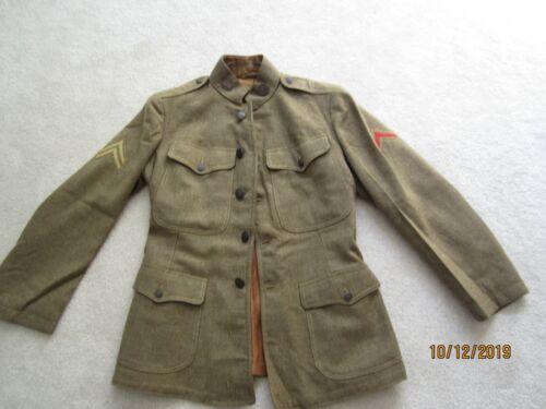 WWI US AERO SQUADRON WOOL UNIFROM JACKET AMAZING CONDTION DATED JULY 3 1918