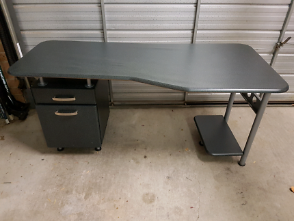 Study desk computer table workstation with filing cabinet