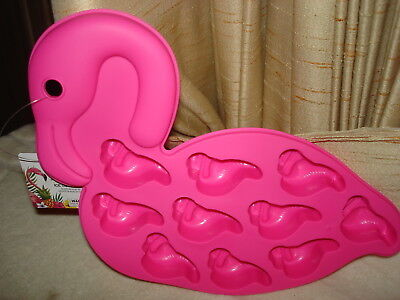 Pink Ice Cubes (ADORABLE PINK FLAMINGO ICE CUBE TRAY MAKES 10 FLAMINGO SHAPED ICE CUBES:)