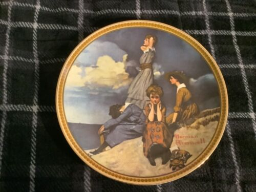 Waiting on the Shore Norman Rockwell Plate Free Ship