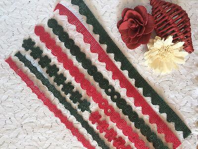 RED AND GREEN DECORATIVE CRAFT JUTE TRIM Jute Trim