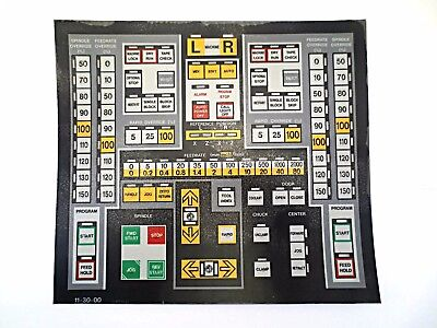 Cnc Machine Keypad Replacement Membraneoverlay 11-30-00. Nos