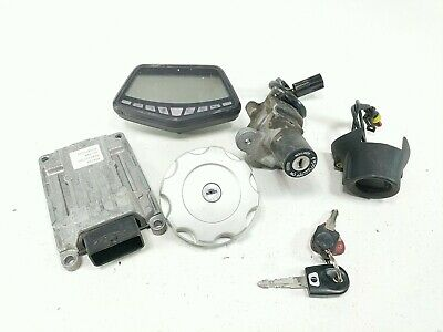 10 Ducati Hypermotard 796 Lock Set Gauge ECU Ignition Switch Cap And Key