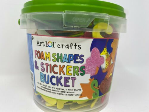 NEW Letters Foam ShapesArt 101 crafts Bucket Tub Value Pack 325 pieces