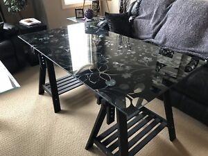 Glass top desk / drafting table