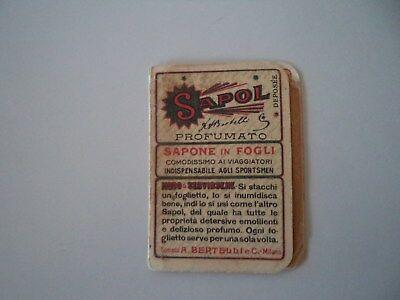 SAPOL SAPONE IN FOGLI BERTELLI - VINTAGE ANNI '30-40