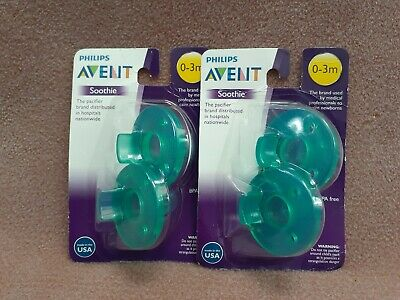 4x Philips Avent Super Soothie Pacifier 0-3 Months (2 Packs Of 2) New Sealed