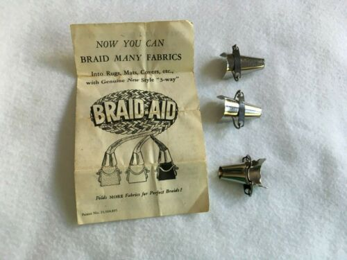 BRAID AID - SET OF 3 - VINTAGE - WITH INSTRUCTIONS
