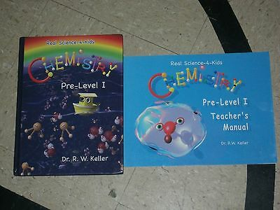 REAL SCIENCE 4 KIDS CHEMISTRY Pre Level 1 Teacher Manual Textbook Keller Set](Science 4 Kids)