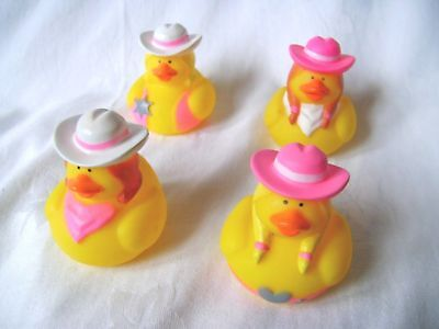 NEW 4 FUN NOVELTY FLOATING BATH DUCKS COWGIRL WESTERN OUTFITS CUTE! PMS OPN-C - Cute Western Outfits