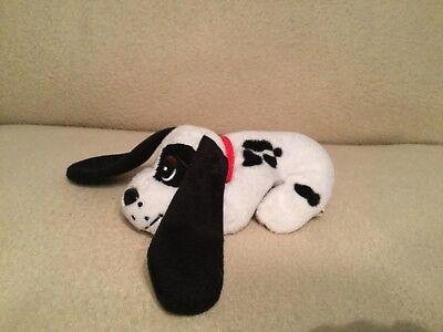 """Vintage Tonka Pound Puppy Plush Toy 7"""" Black / White Long Ears"""