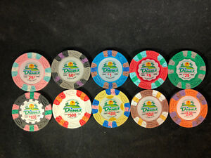 Dunes Las Vegas Commemorative Poker Chips Set of 10