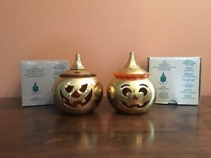 Partylite Jack & Jill Halloween Candle Holders