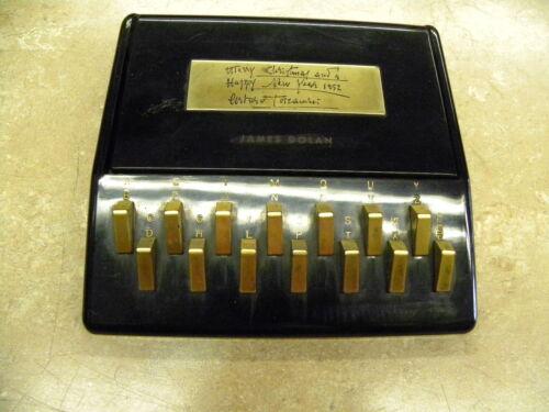 Vintage Key Punch Office Desk Organizer Address Book Unique Rolodex
