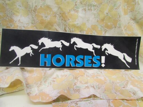 HORSES!  2001 Horse Hollow Press  Bumper Sticker Never Used New Old Stock!