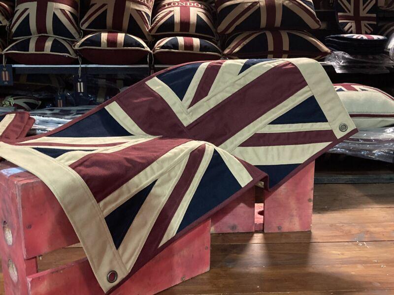 Union Jack Textile Flag ( Tea Dyed White 76 X43cms)