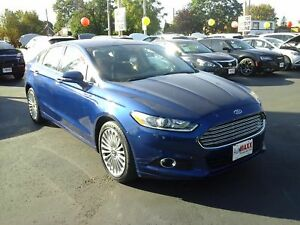 2014 FORD FUSION SE- POWER GLASS SUNROOF, LEATHER HEATED SEATS,