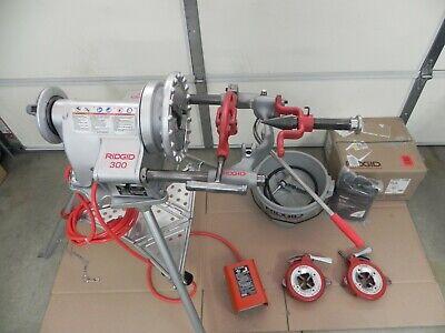 Ridgid 300 - T2 Pipe Threader 12- 2 360311341 Two Die Headsrigid Oiler