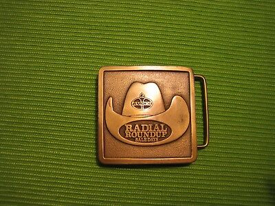 Vintage Amoco Radial Roundup Sale Days/cowboy hat Belt Buckle