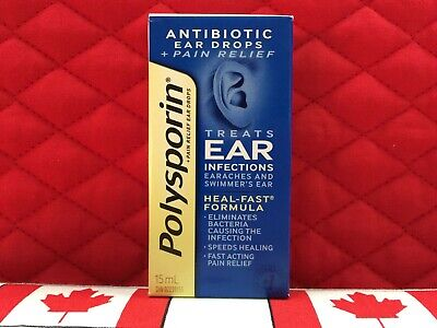 Polysporin Antibiotic Ear Drops for infections & pain. Ships SUPER FAST from USA
