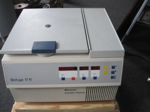 Baxter Scientific Biofuge 17R Benchtop Refrigerated Centrifuge Model 2752