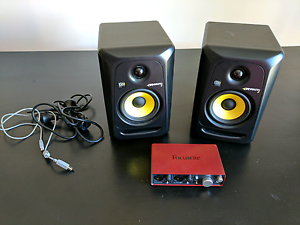 """Rokit 5"""" pair Monitor and Focusrite Scarlett Manning South Perth Area Preview"""