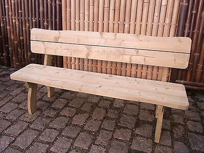 Gartenbank Holzbank Freital LEIPZIG 180 cm - 40mm - 4´Sitzer - imprägniert