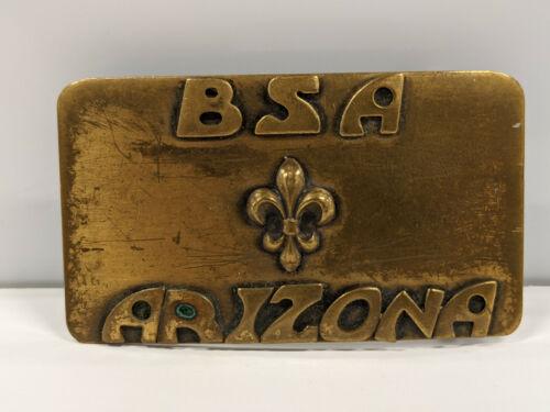 Vintage Boy Scouts of America BSA Arizona Brass Belt Buckle