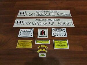 Farmall cub tractor decal set