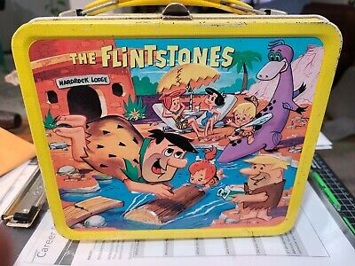 1964 Flinstones vintage metal lunch box WITH thermos