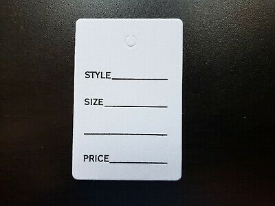 100 White Merchandise Price Jewelry Garment Tags Small Card 1 78 X 1 14
