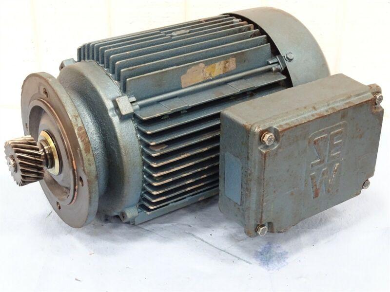 SEW EuroDrive DFT100L4 Electric Motor 5HP 1680RPM 230/460VAC 13.6/6.8A 60Hz