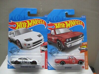 HOT WHEELS MINT BRAND NEW 2020 L CASE LOT OF 2 DATSUN 620 P/U & NISSAN 300ZX TWI
