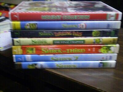 (7) Dreamworks Shrek Children's DVD Lot: Shrek 1-4 Halloween Christmas & 3-D](Halloween 3d Dvd)