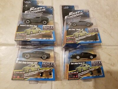 JADA Fast & Furious BUILD N COLLECT- Brian's Lancer #6,2,3&4 Lot of 4 cars NIB