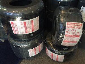 Go Kart - Bridgestone YLR Junior / Senior Tyre Set (4 tyres) - NEW