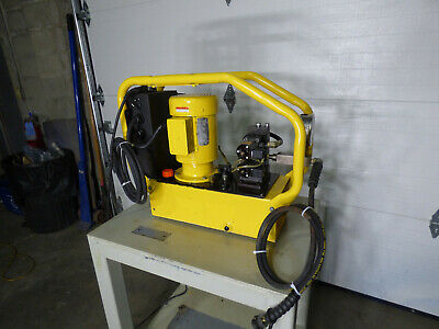 Enerpac 10000 Psi Hydraulic Power Supply With Table Nice
