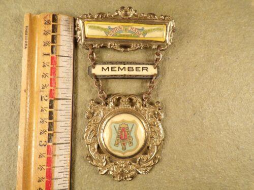 Rare Antique Whitehead & Hoag Medal Union Member Pin