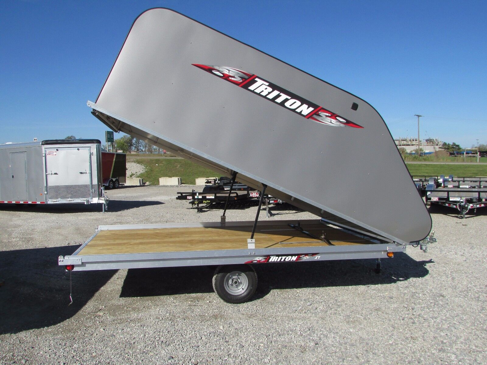 Triton 12 Enclosed Snowmobile Trailer Tilt Style Year End Sale Dr Trailer New Triton For