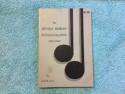 IRVING BERLIN SONGOGRAPHY 1906-1907 Dave Jay 1969 Catalog Songs Music VTG 78 Rpm