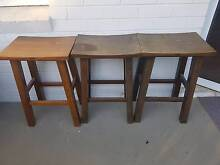 Wooden Bar Stools x3 Cronulla Sutherland Area Preview