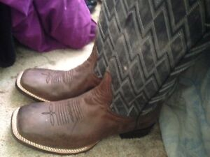 Cowboy boots worn once for stampede